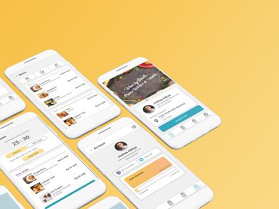 Self Service Restaurant App self-service restaurant branding ui ux mobile design app