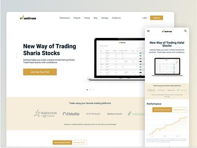 Aatinaa | Sharia Stocks Watchlist list mobile desktop website landing page islamic shares stock