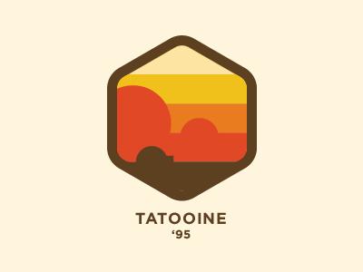 Tatooine Badge badge retro vintage space movies tatooine star wars sci fi