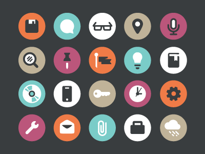 Flat Icons icon mail