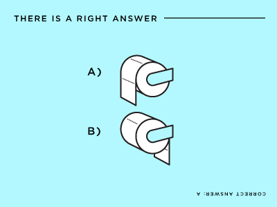 A or B illustration diagram quiz tp bathroom tissue poop toilet paper