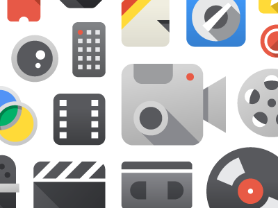 YouTube Product Icons google youtube video icons product camera vhs film lens reel clacker record