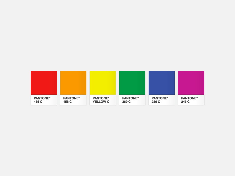 Pantone Rainbow by Curt Rice on Dribbble