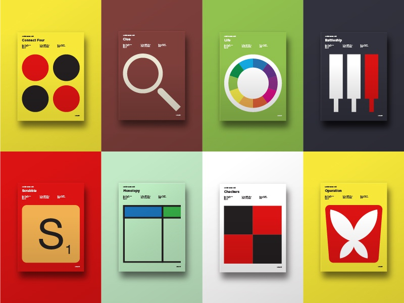 minimal board game posters by curt rice dribbble dribbble