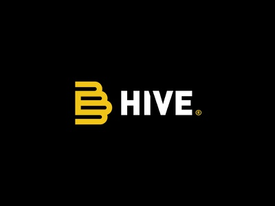 The B Hive insects bees type mark flat minimal hive bee