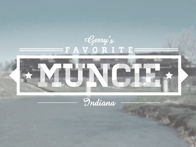 Muncie, IN muncie typography location gerry gergich parks and rec parks and recreation