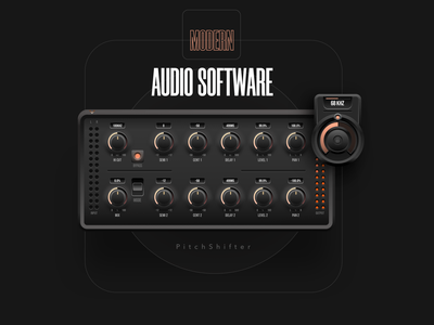 UI for the AUDIO Product - Pitch Shifter user experience ui interface interaction design audio tool audio mockup ui design button user interface digital design