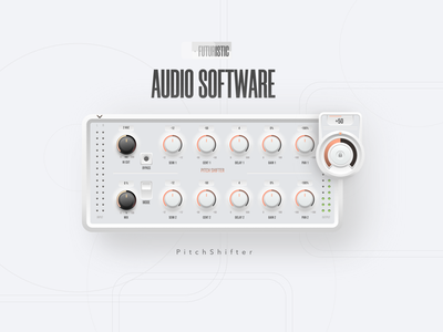 UI for the AUDIO Product - Pitch Shifter mockup button audio software audio interface interaction design audio tool ui design user interface digital design