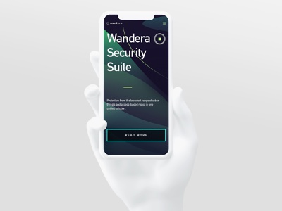 Wandera Security Suite | iPhone Mockup data protection company branding data protection digital security ui mockup user interface ui design cybersecurity