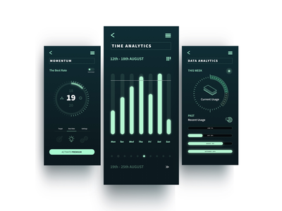 Design for Analytics App foldable mobile app technology innovation app user interface ui design digital design button