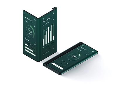 Analytics App - HiFidelity Mockup interface user interface analytic app mobile app app ui ui design digital design huawei foldable foldable smartphone foldable mobile mockup hifidelity mockup