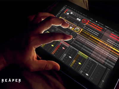 Reaper - User Interface redesign project touch screen device device touchscreen sound button ui ux complexity reaper interaction design interface design audio tool audio audio software hifdelity mockup user interface digital design