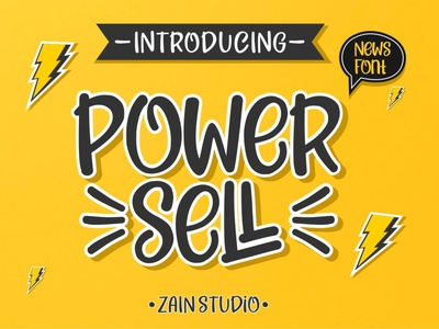 Power Sell Display Font paint creative graffiti style graphic symbol black letter hand ink brush text type design set marker alphabet font vector abc