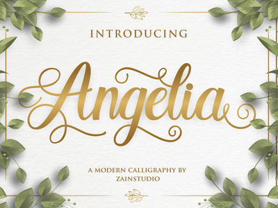 Angelia Script Font art typeset calligraphic typeface vintage graphic letter style modern handwritten design abc type font lettering text script typography alphabet calligraphy