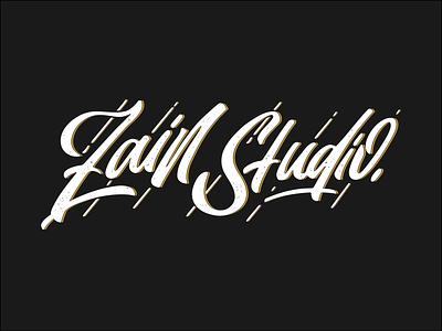 Zain Studio Logo logo script graphic modern letter typeface typography font design alphabet