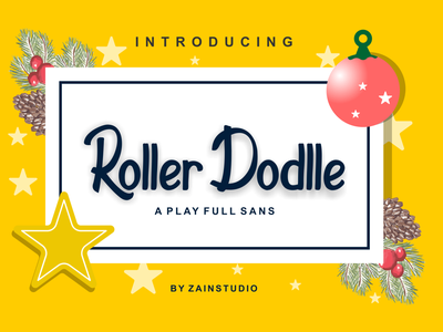 Roller Dodlle Display Font playful doodle baby poster sweet children childish drawing typeface modern school education comic kid colorful funny art cartoon typography alphabet