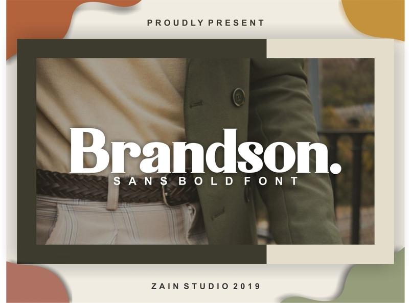 Brandson Font Sans serif logo hand drawn letter design typeface sanserif sans font typography alphabet