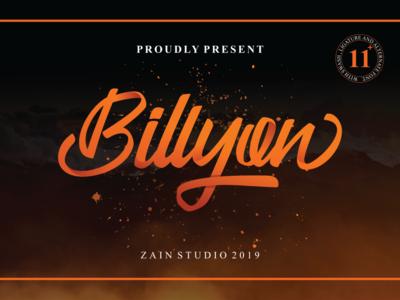 Billyon Handlettering Font