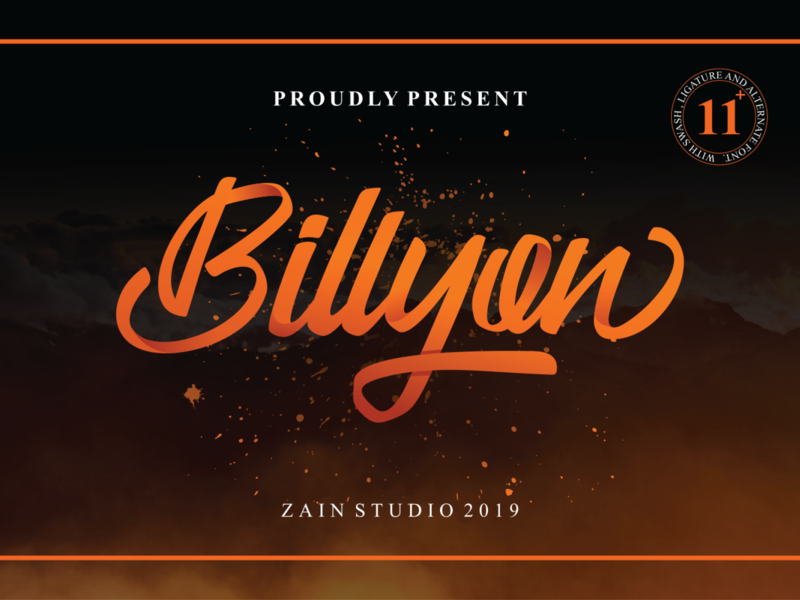 Billyon Handlettering Font calligraphy font design script handlettering hand drawn design typography alphabet typeface font