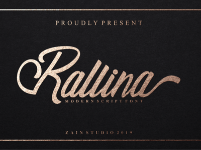 Rallina Script Font modern typeset graphic letter typeface brush handwritten hand style sign text design font type lettering abc script calligraphy alphabet typography