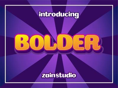 Bolder Display Font symbol modern urban typeset retro headline sign style typographic abc poster typography letter character typeface design font bold alphabet type