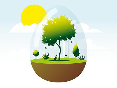 Easter 2020 for Akacjowa color illustration vector