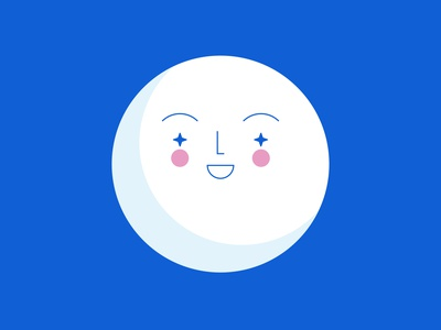 My friend Moon moon color illustration vector