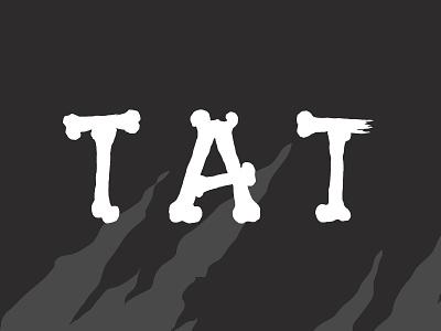 TAT X TOO tattoo blackandwhite graphic bones type typography branding logo illustration vector