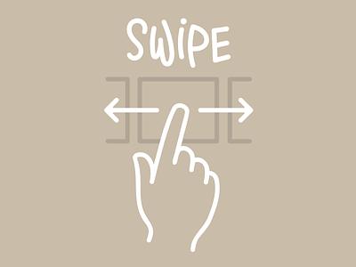 Swipe your mood icon typography design illustration vector