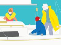 Sailing poster detail