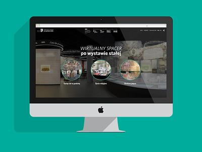 Wirtualny spacer po wystawie stałej website design ux ui