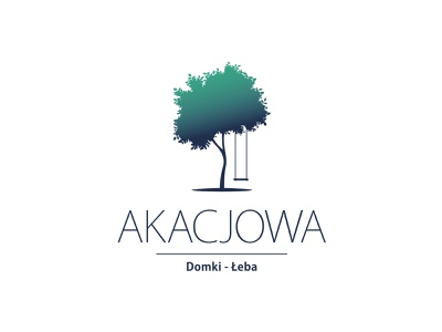 Akacjowa logo branding illustration vector