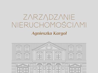 Zarządzanie nieruchomościami Agnieszka Kargol branding logo vector illustration