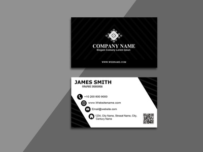 Company Modern Business Cards