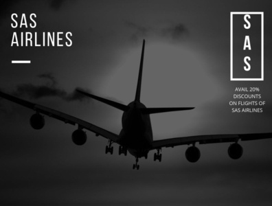 Avail 20% discounts on Flights of SAS Airlines