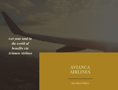 Get your soul in the world of benefits via Avianca Airlines