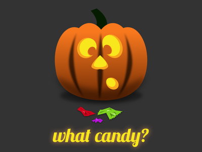 What candy? sketch illustration