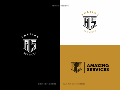 Amazing Services Logo identity design services logo design brand identity design