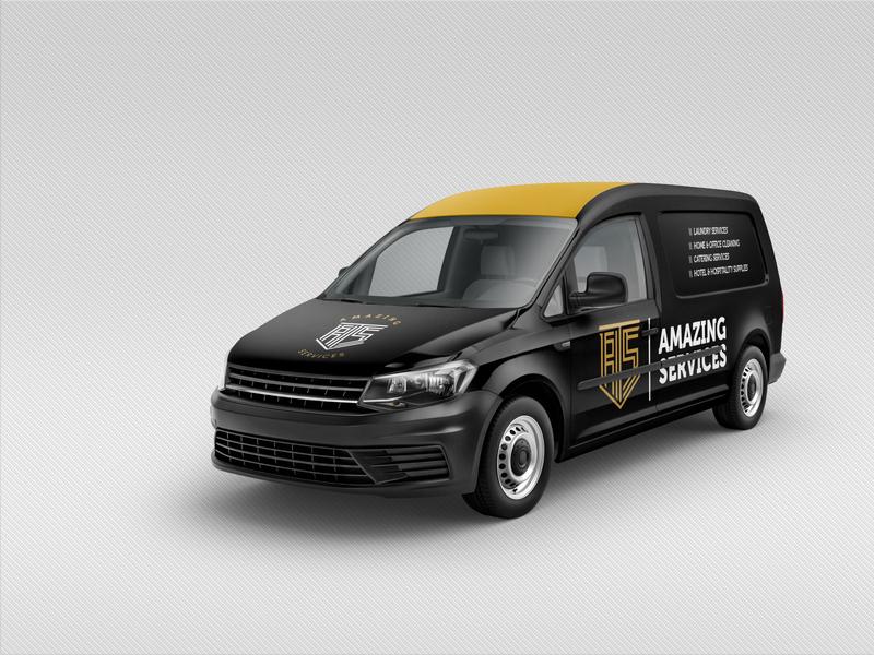 Amazing Services Branded Van graphic designer design branded van branding design brand identity