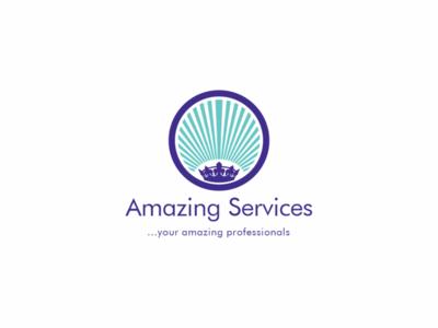 Amazing Services Logo (Option ii) design adobe illustrator brand identity graphic design brand design logo designer logo designs logos