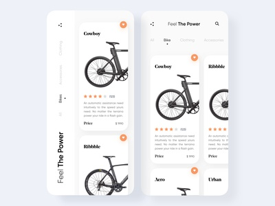 Bike Store App Home Screens Design