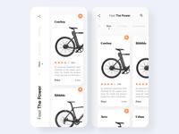 Bike Store App Home Screens Design