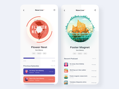 Podcast App Design uiuxdesigner uiuxdesign uiux podcast app podcast mobile app design mobile app mobile designer design app ui appdesigner app design appdesign app