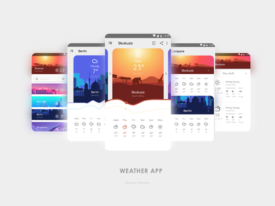 Weather App motion uidesign uiux user experience illustraion user interface ux mobile app design mobile app ui design digital ui daily ui design