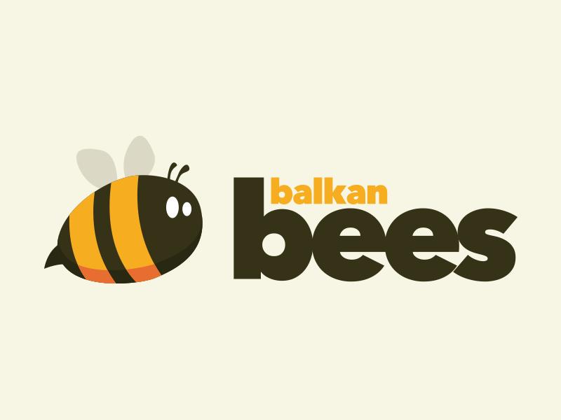 Balkan Bees logo mark branding