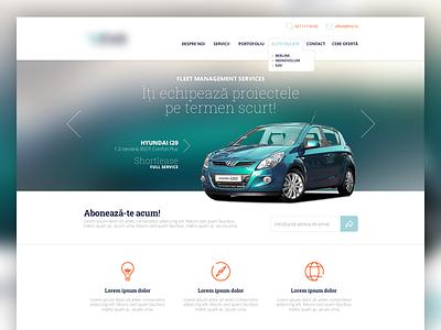 Car Dealer Website homepage photoshop interface design graphic design ui design web design ux
