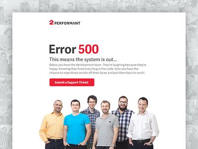Error 500 Service Unavailable error website web interface ux ui