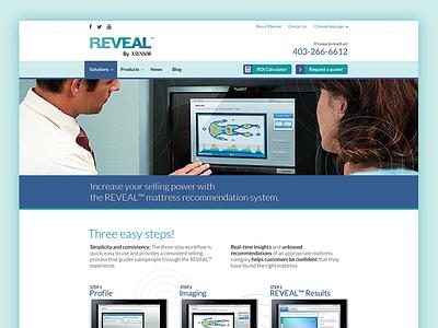 Reveal by XSensor Homepage Design bootstrap responsive blue green web design ui design interface design graphic design ux
