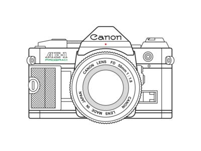 Canon AE-1 50mm lens vintage retro ae-1 canon camera film analog 35mm