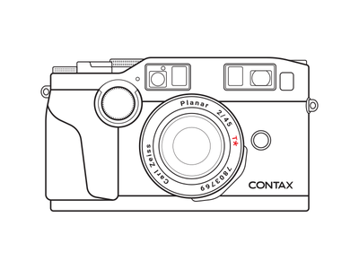 Contax G2 line vector photography carl zeiss contax camera film 35mm